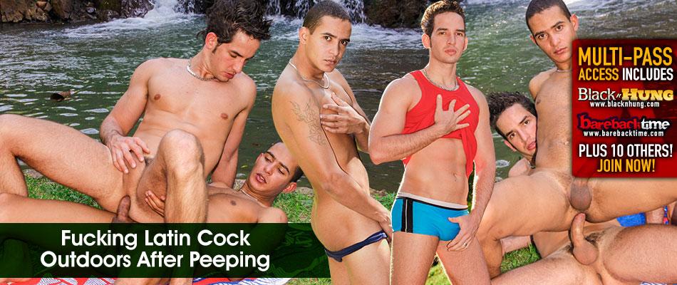 Gay latino barebacking action at its best